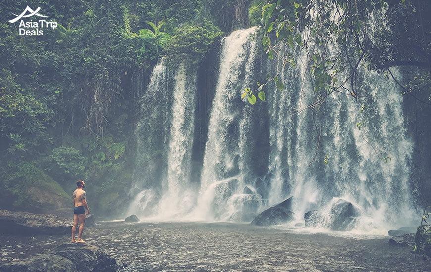 Phnom Kulen waterfall, Siem Reap