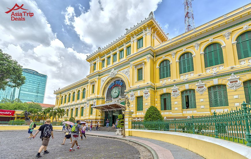 Saigon central post office is one of the most famous attractions of the city