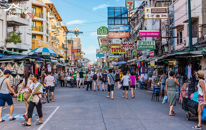 Khaosan Road in Bangkok Thailand