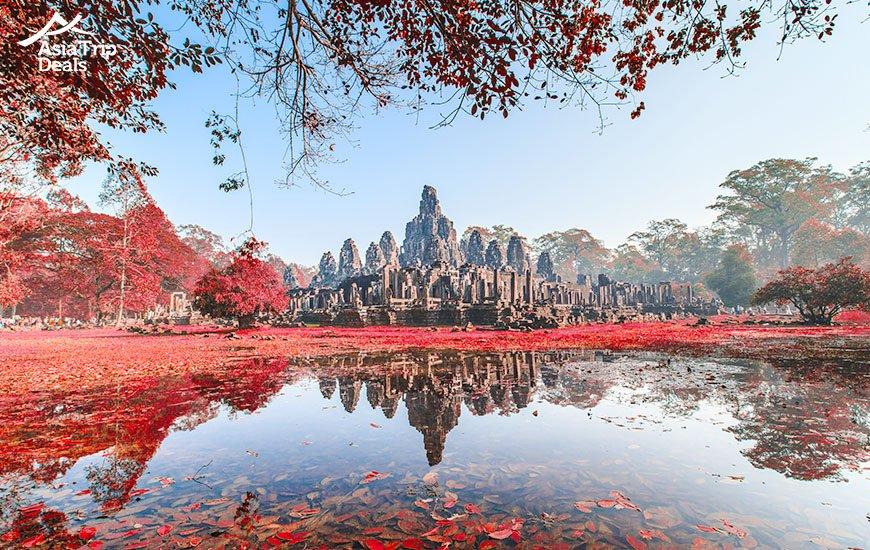Bayon Castle in Cambodia