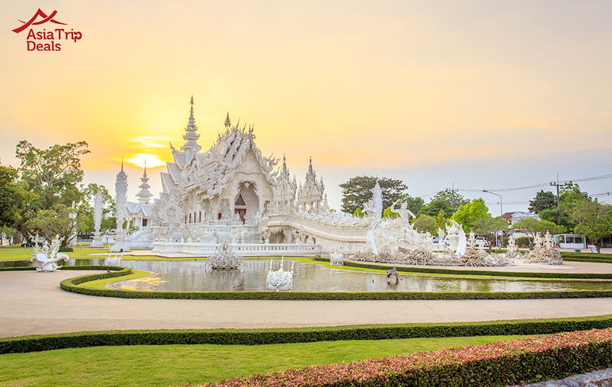Wat Rong Khun temple (White Temple) in Chiang Rai Thailand