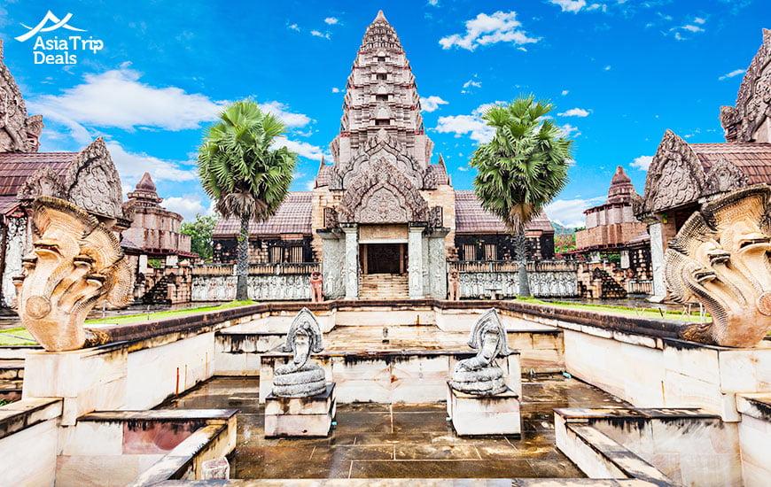 Old temple near Thaweesin hot spring in Chiang Rai