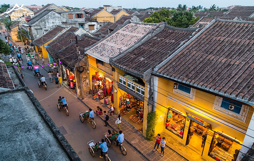 Streets of old town Hoi An Vietnam