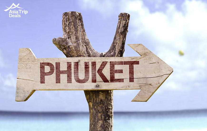 Sign on Phuket beach