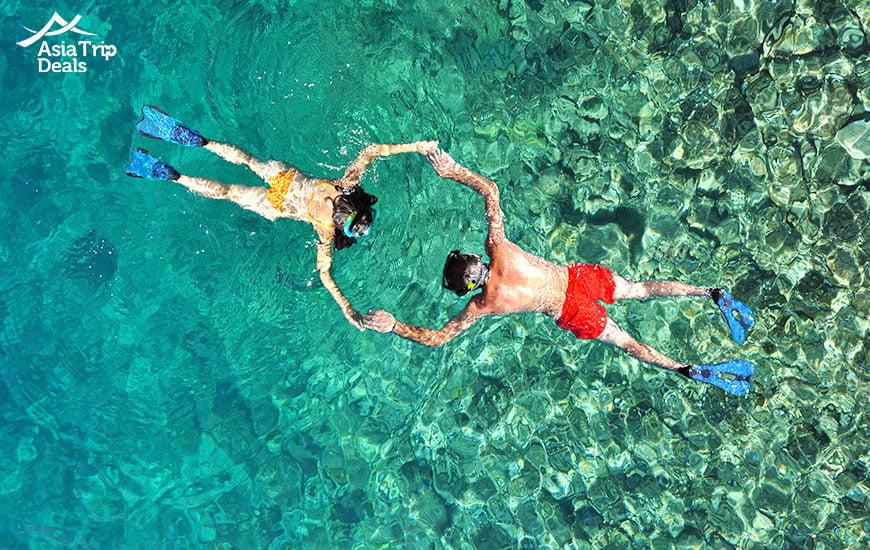 Snorkling in Phuket Thailand