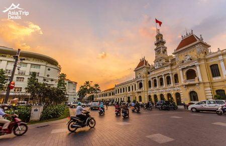 "Explore ""Saigon after Dark"" on Vespa"