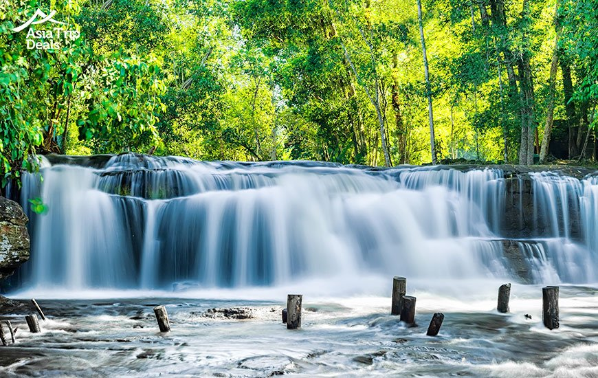 Kulen waterfall in Cambodia