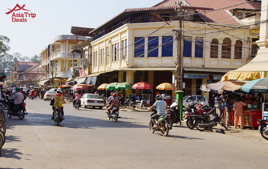 Local shops in Kratie, Cambodia