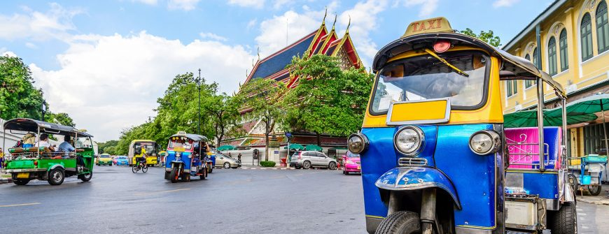 The iconic tuk tuk in Thailand