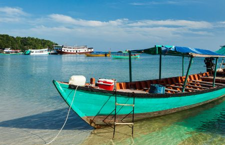 Boat in Sihanoukville, Cambodia