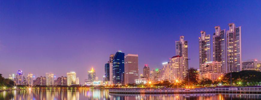 Cityscape of Bangkok at night