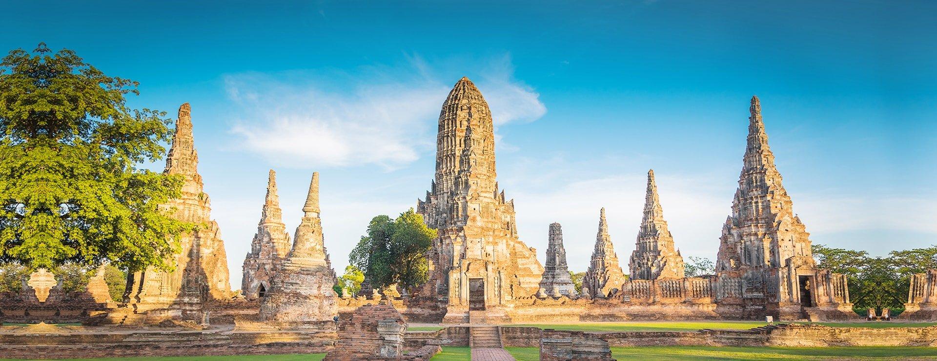 Landscape Ayutthaya Historical Park in Ayutthaya Thailand