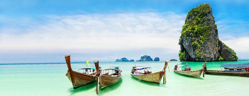 Longtale boat on Thailand beach