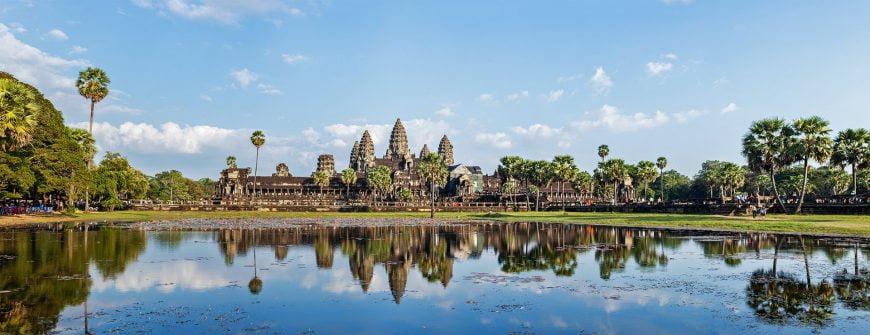 Panorama of famous Angkor Wat