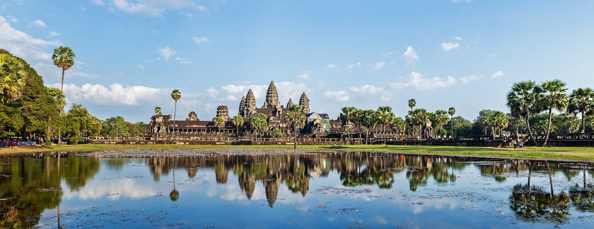 Panorama of famous Angkor Wat