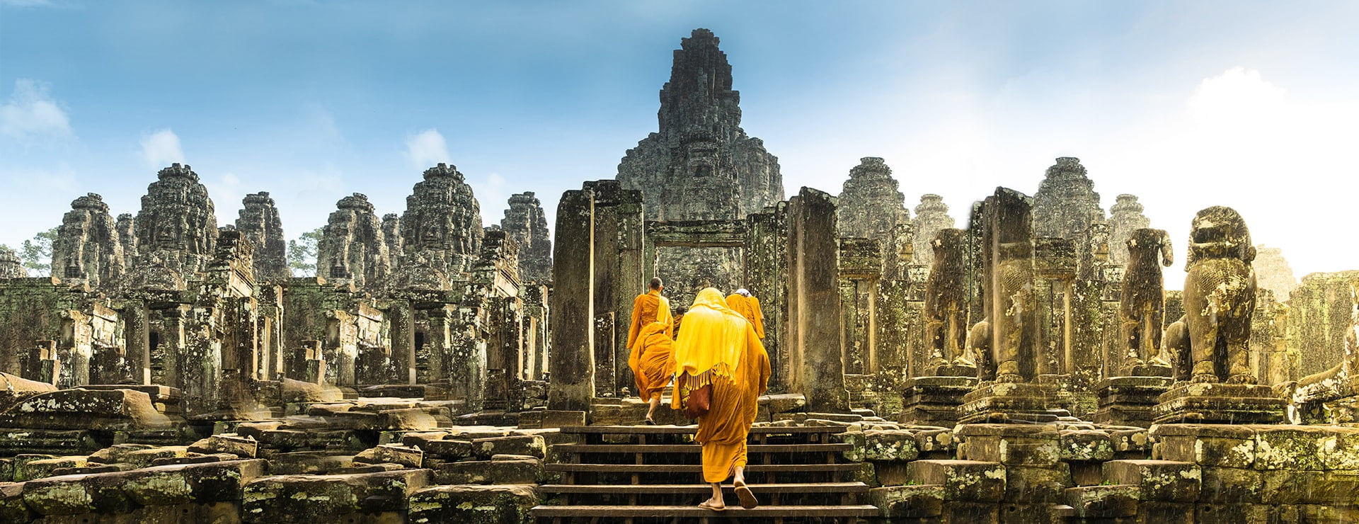Bayon temple in the Angkor complex, Cambodia