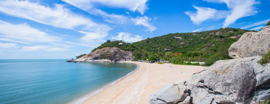 View of Sainoi beach in Hua Hin, Thailand