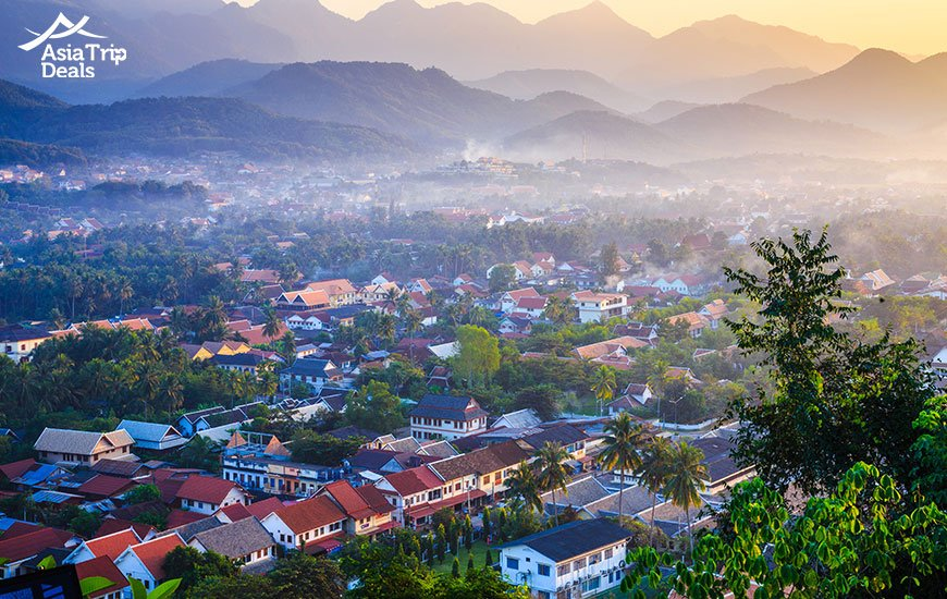 Beautiful landscape of Luang Prabang