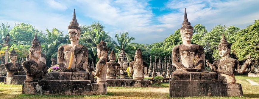 wat xiang khuan buddha park in laos