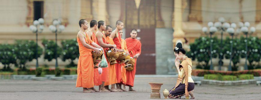 Alms in Laos