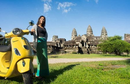 Countryside Life in Siemreap by Vespa