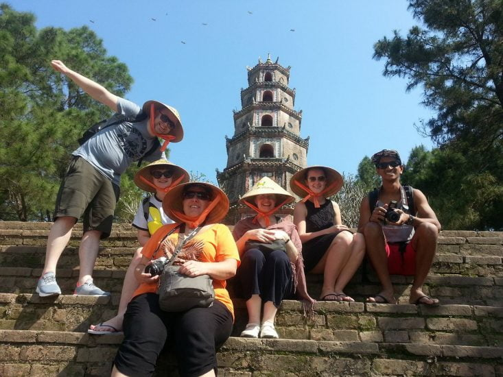 Visiting the historic sites of Hue