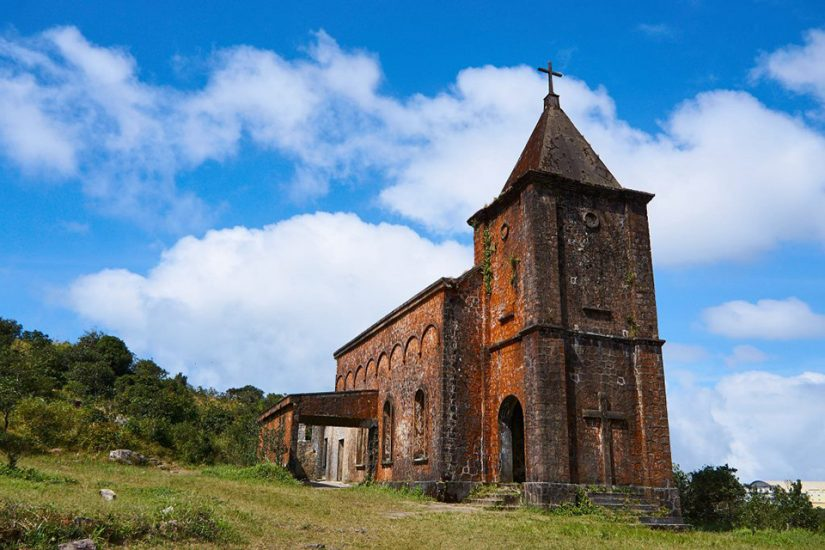 Old church on Bokor mountain