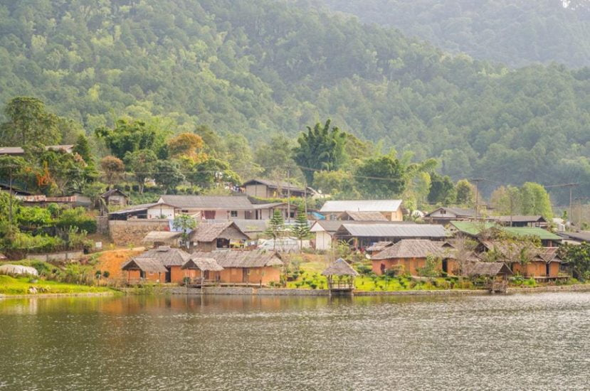 A small Thai village in Mae Hong Son