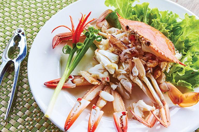Fresh seafood in Kampot, Cambodia