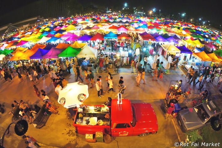 Thai night market in Bangkok