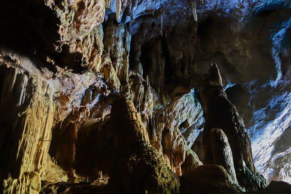 Tham Lod cave beneath Shan Hills in Mae Hong Son
