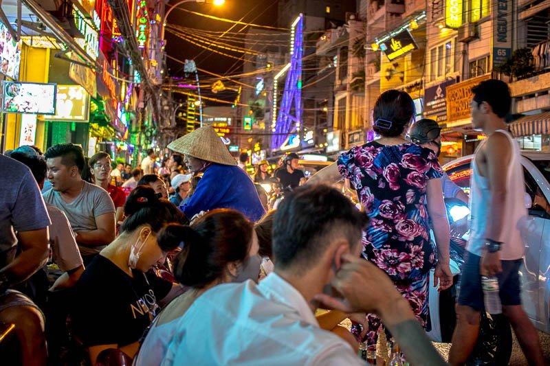 Bui Vein street, Ho Chi Minh city, Vietnam
