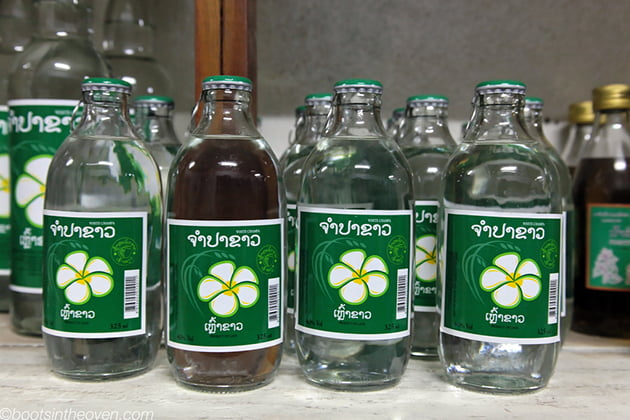 Popular drunk Lao-Lao rice whiskey