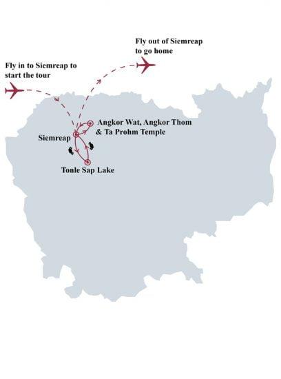 Angkor explorer 5 days tour map